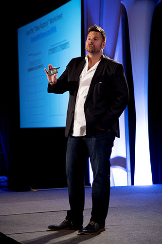 affiliate marketing tips from tyson zahner on stage