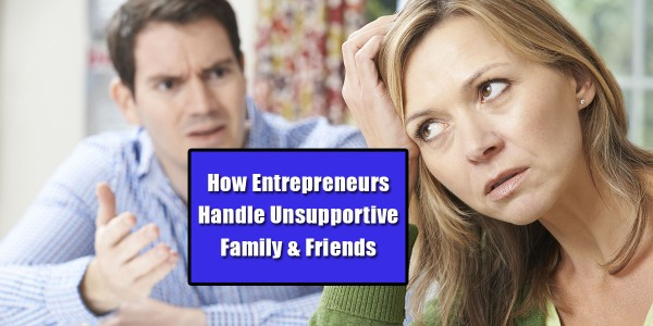 unsupportive family members and friends